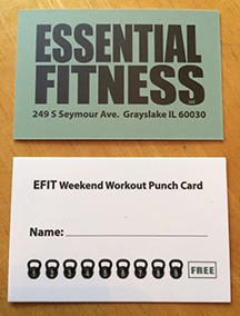 Efit Weekend Workout Punch Card